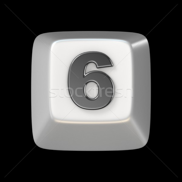 Computer keyboard key number SIX 6 3D Stock photo © djmilic
