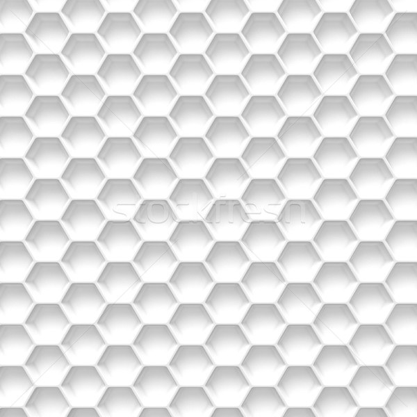 Black and white honeycomb. Abstract background. 3D Stock photo © djmilic