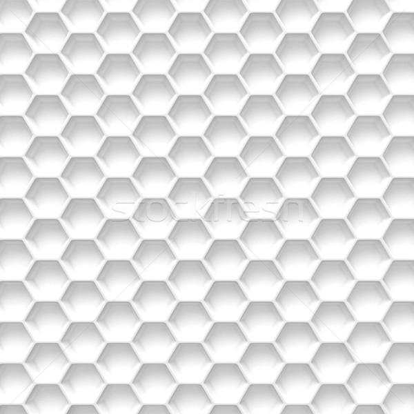 черно белые соты аннотация 3D 3d иллюстрации изолированный Сток-фото © djmilic