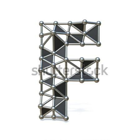 Metal filo carattere virgola 3D Foto d'archivio © djmilic