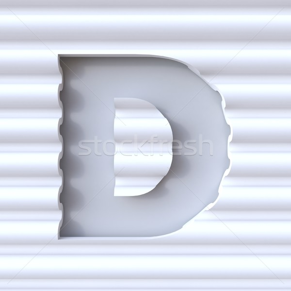 Cut out font in wave surface LETTER D 3D Stock photo © djmilic