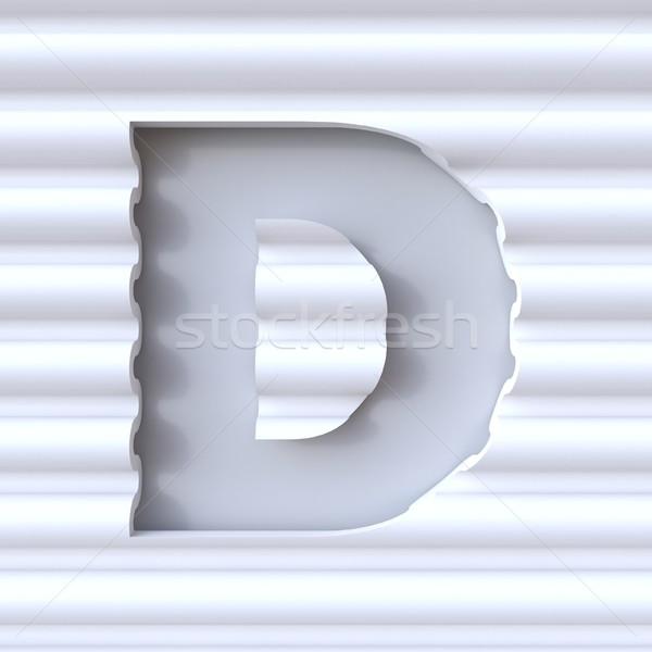 Kivágás betűtípus hullám felület d betű 3D Stock fotó © djmilic