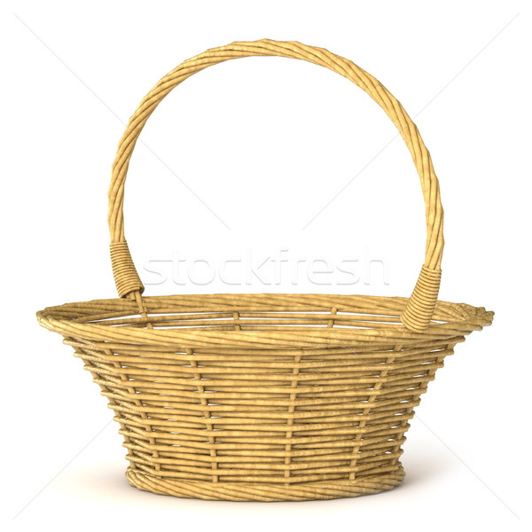 Empty wicker basket. 3D Stock photo © djmilic