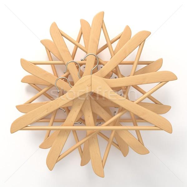 Bois star 3D rendu 3d illustration isolé Photo stock © djmilic