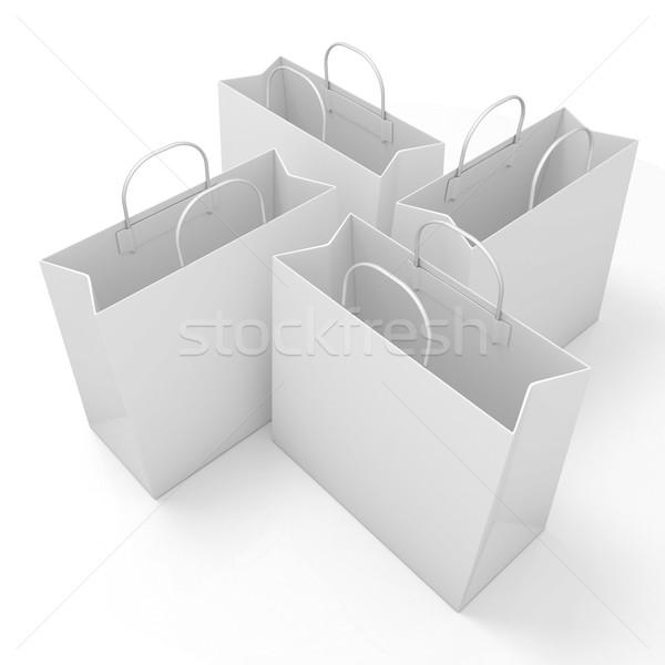 Empty paper bags, arranged Stock photo © djmilic