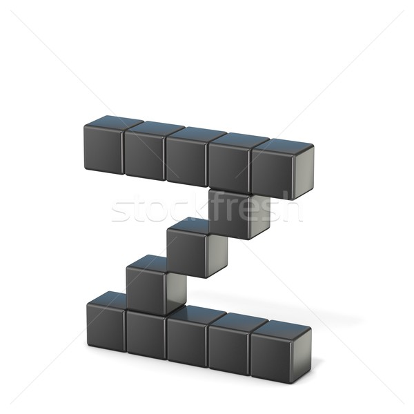 8 bit font. Lowercase letter Z. 3D Stock photo © djmilic