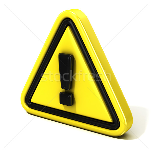 Attention sign. 3D Side view Stock photo © djmilic