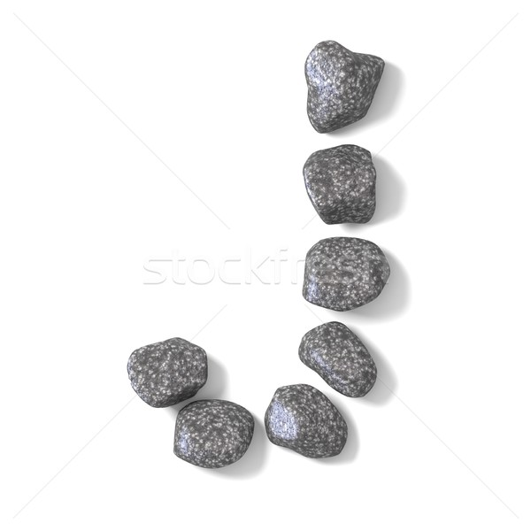Font made of rocks LETTER J 3D Stock photo © djmilic