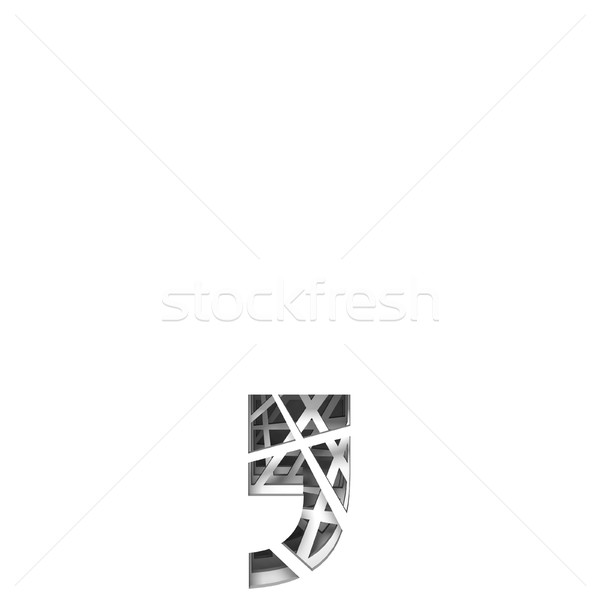 Paper cut out font COMMA 3D Stock photo © djmilic
