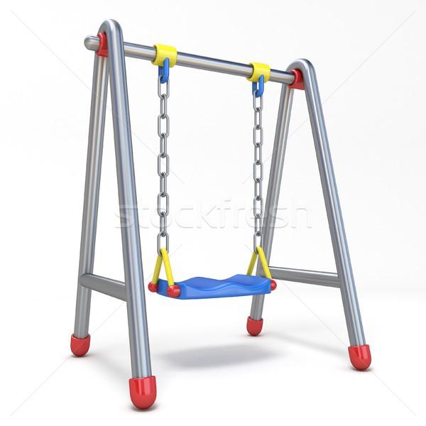 ストックフォト: 子供 · スイング · 3D · 3dのレンダリング · 実例 · 孤立した