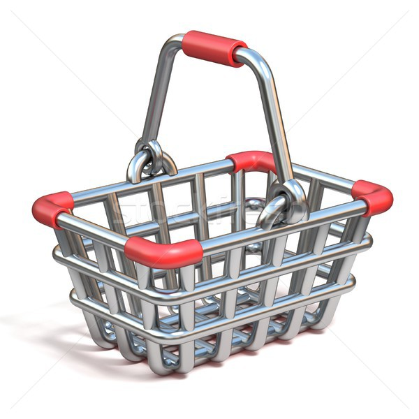 Steel wire shopping basket cartoon icon 3D Stock photo © djmilic