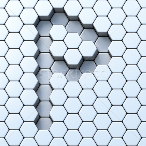 Hexagonal grid letter P 3D Stock photo © djmilic