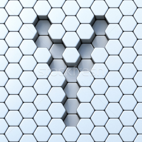 Hexagonal grid letter Y 3D Stock photo © djmilic