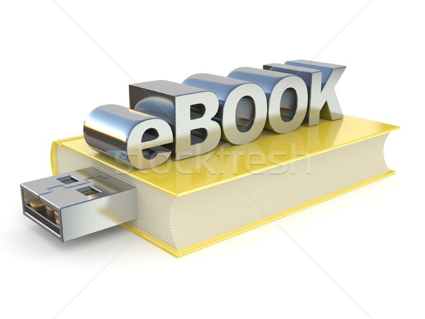 eBook with USB plug. 3D Stock photo © djmilic