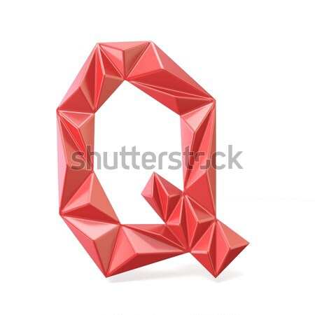 Red modern triangular font letter D. 3D Stock photo © djmilic