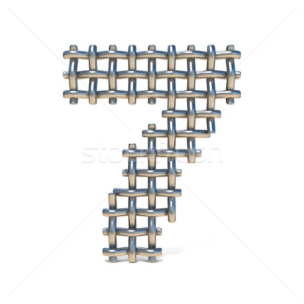 Metal filo carattere numero sette Foto d'archivio © djmilic