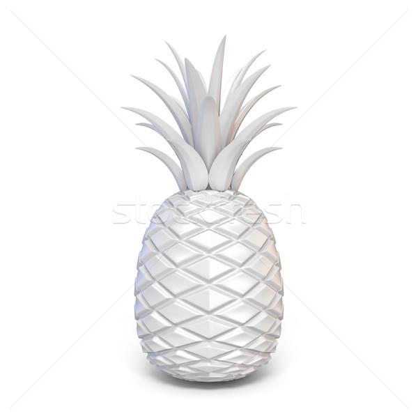 Stok fotoğraf: Beyaz · soyut · ananas · 3D · örnek