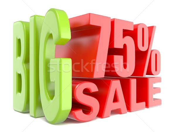 Big sale and percent 75% 3D words sign Stock photo © djmilic