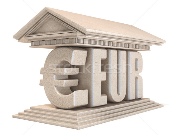 Euro EUR currency sign temple 3D Stock photo © djmilic