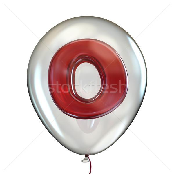 Foto stock: Transparente · balão · 3D · 3d · render · ilustração