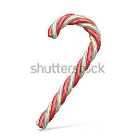 Candy Zuckerrohr 3D 3d render Illustration isoliert Stock foto © djmilic