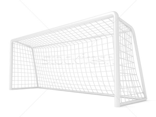 Football - soccer gate. 3D Stock photo © djmilic