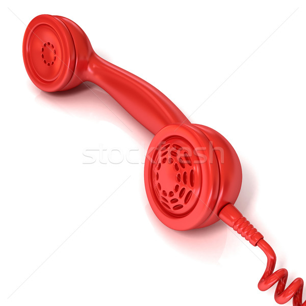Red telephone handset, retro illustration Stock photo © djmilic