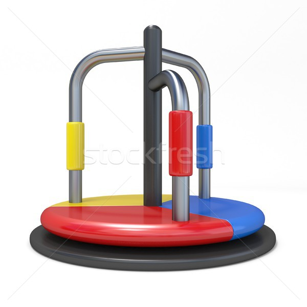 Children carousel outdoor toy 3D Stock photo © djmilic