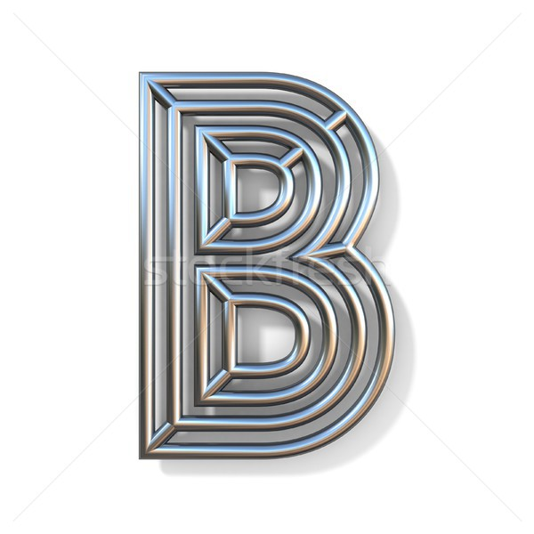 Wire outline font letter B 3D Stock photo © djmilic