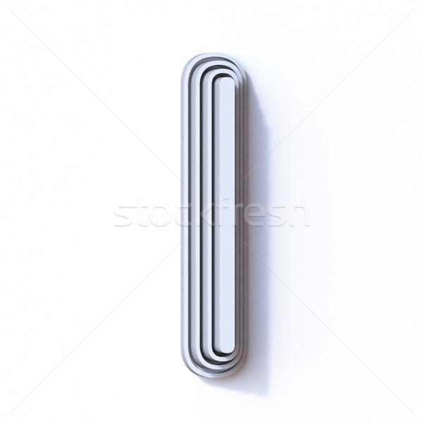 Drie stappen doopvont letter i 3D 3d render Stockfoto © djmilic