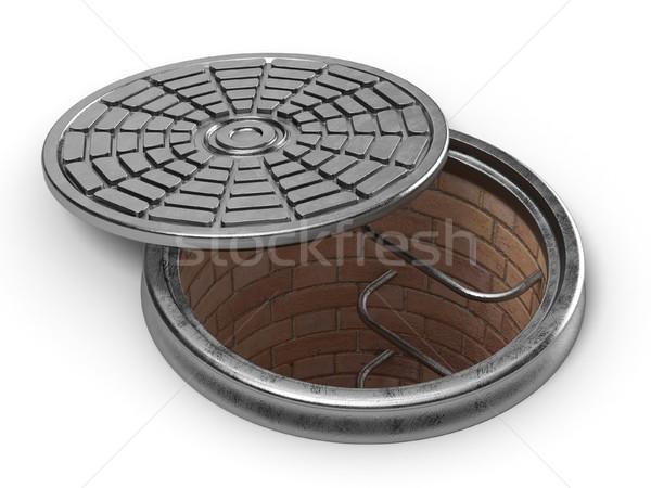 Manhole cover lid. 3D Stock photo © djmilic
