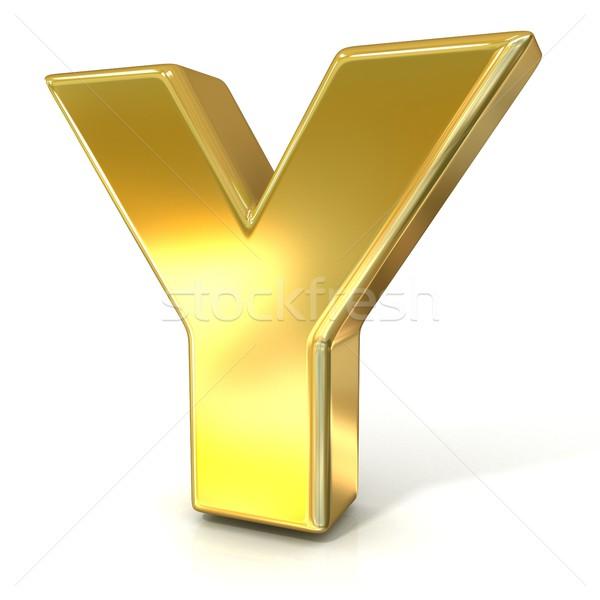 Golden font collection letter - Y. 3D Stock photo © djmilic