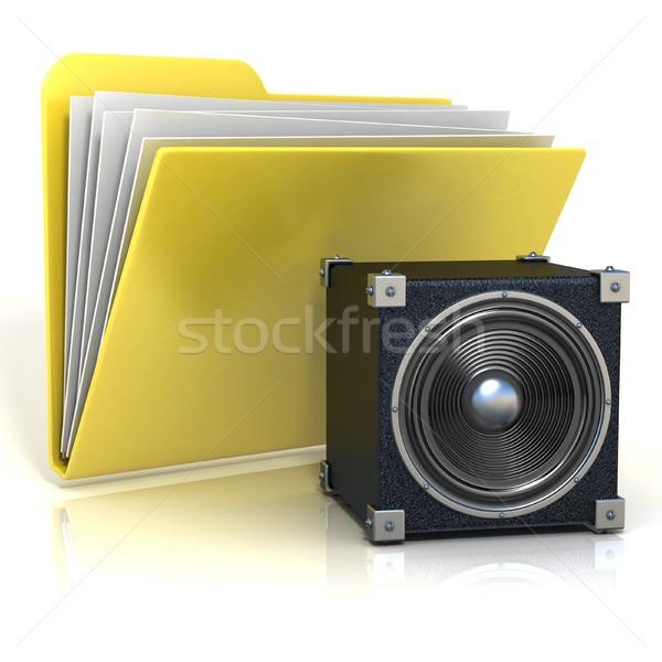 папке икона оратора 3D 3d визуализации иллюстрация Сток-фото © djmilic