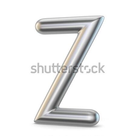Metal alphabet symbol. Letter Z 3D Stock photo © djmilic