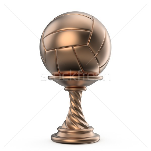 Bronze trophy cup VOLLEYBALL 3D Stock photo © djmilic
