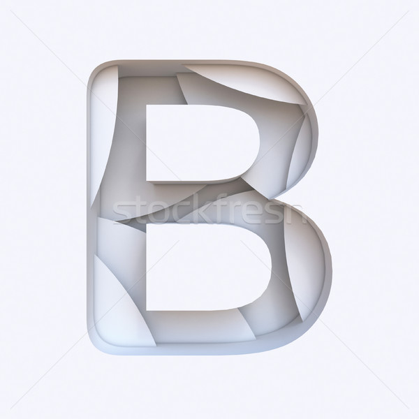 Bianco abstract carattere lettera 3D Foto d'archivio © djmilic