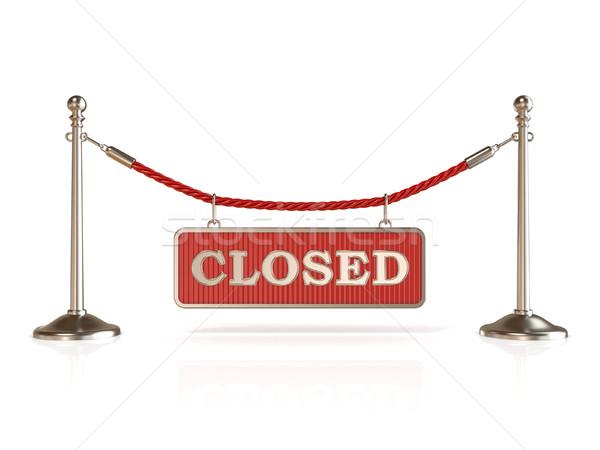 ベルベット ロープ 閉店 にログイン 3D 3dのレンダリング ストックフォト © djmilic