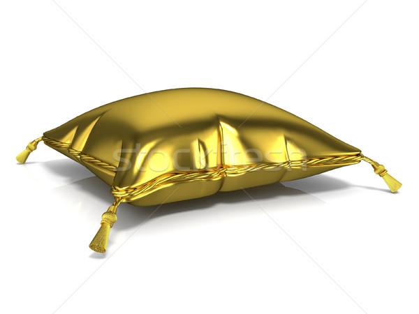 Royal old gold pillow. 3D Stock photo © djmilic