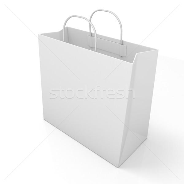 Empty shopping paper bag Stock photo © djmilic