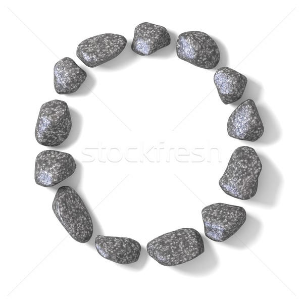 Font made of rocks LETTER O 3D Stock photo © djmilic