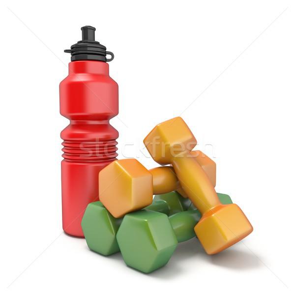 Stok fotoğraf: Plastik · şişe · dambıl · 3D · örnek