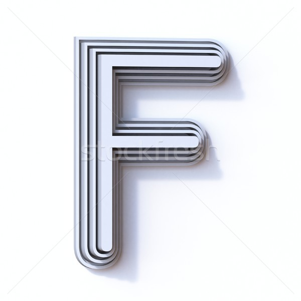 Three steps font letter F 3D Stock photo © djmilic