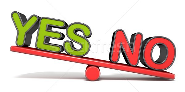 YES or NO teeter overbalance concept 3D Stock photo © djmilic