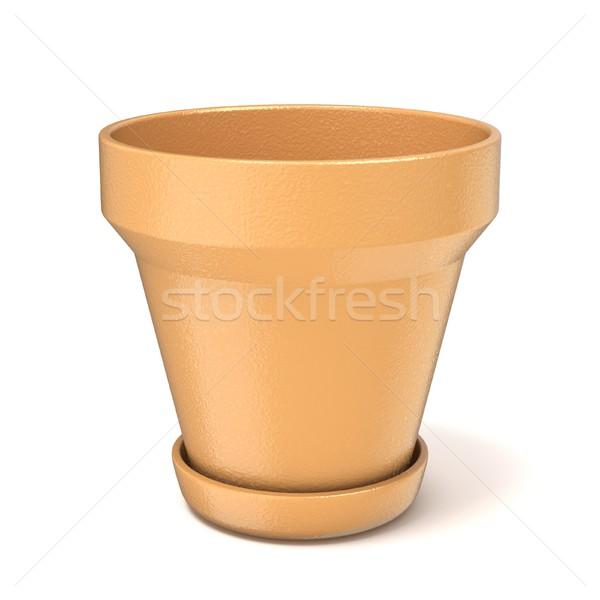 Empty clay plant pot. 3D Stock photo © djmilic