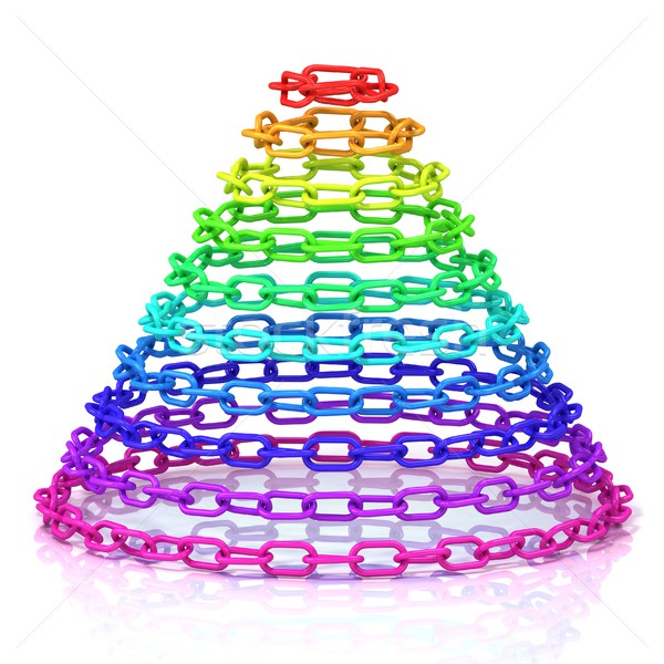 Stock photo: Colorful cone made of chain
