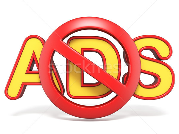 Forbidden sign with ADS text 3D Stock photo © djmilic