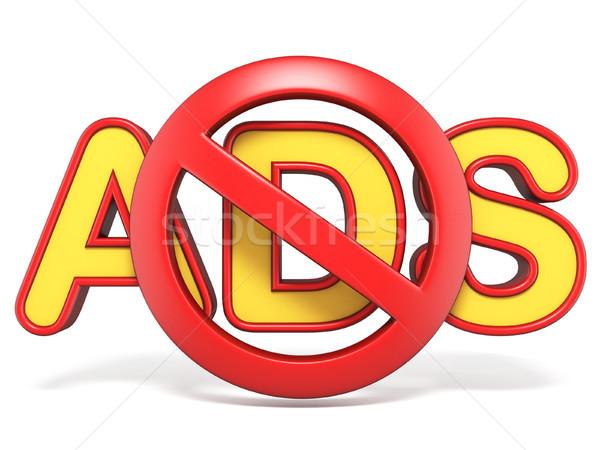 Tilos felirat reklámok szöveg 3D 3d render Stock fotó © djmilic
