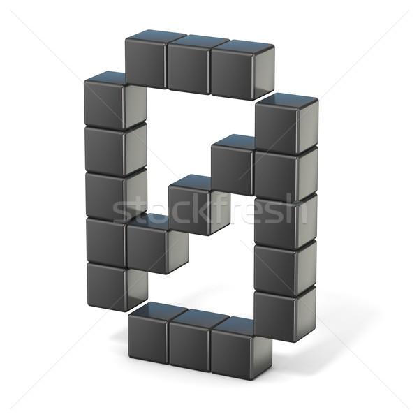 бит шрифт числа 3D 3d визуализации иллюстрация Сток-фото © djmilic