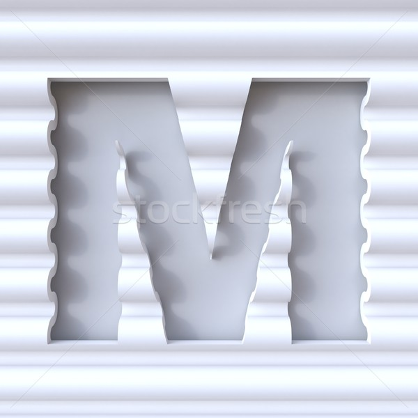 Cut out font in wave surface LETTER M 3D Stock photo © djmilic