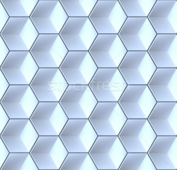 Seamles hexagonal abstract background 3D Stock photo © djmilic